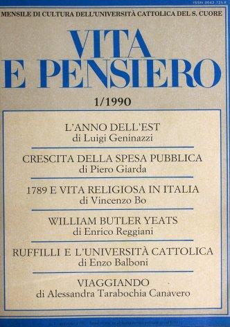 1789 e vita religiosa in Italia