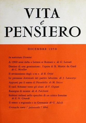 A 1900 anni dalla «Lettera ai Romani»