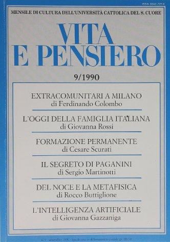 Alcuni aspetti emergenti della famiglia italiana: un'interpretazione sociologica