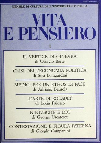 All'origine della crisi dell'economia politica