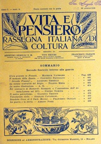 Benedetto Croce ed il Card. Mercier
