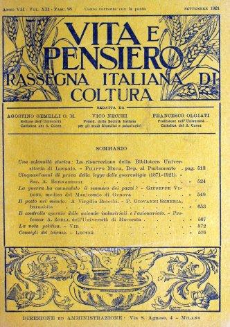 Cinquant'anni di prova della legge delle guarentigie (1871-1921)