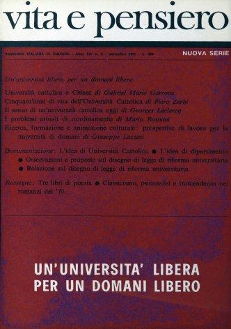 Classicismo, psicanalisi e trascendenza nei romanzi del'70