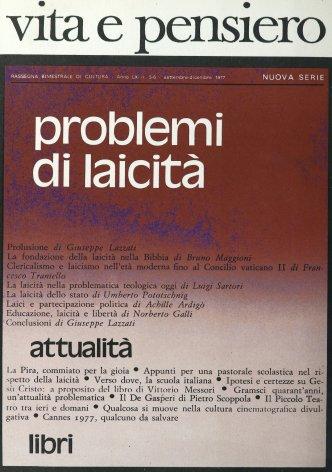 Clericalismo e laicismo nell'età moderna fino al Concilio vaticano II