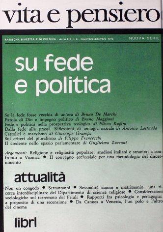 Considerazioni sociologiche sul terremoto del Friuli