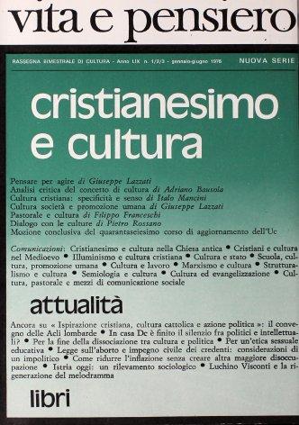 Cultura società e promozione umana