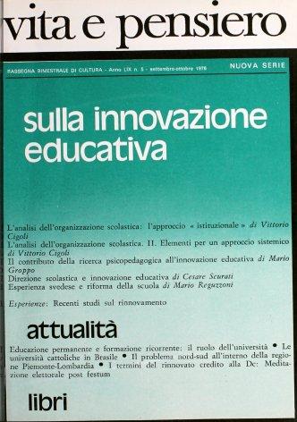 Educazione permanente e formazione ricorrente: il ruolo dell'università