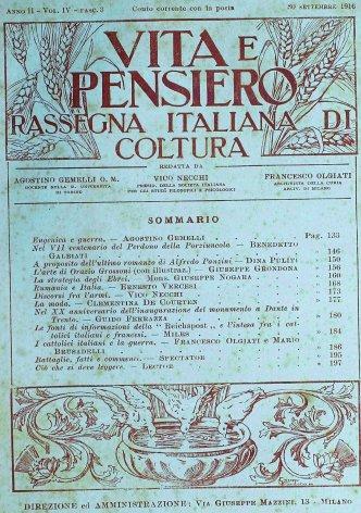 I cattolici italiani e la guerra