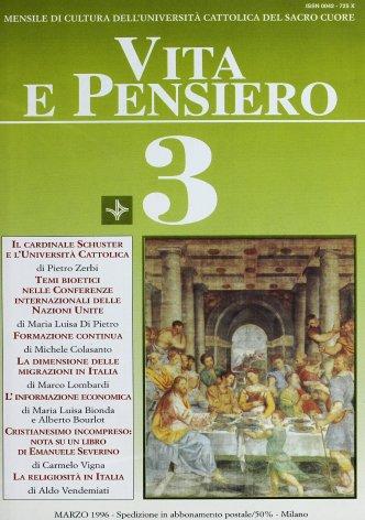 Il beato cardinale Alfredo Ildefonso Schuster e l'Università Cattolica