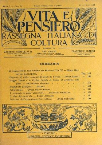 Il cinquantesimo anniversario del Sillabo di Pio IX