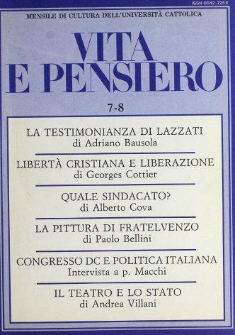 Il Congresso Dc e la politica italiana. Intervista a p. Macchi