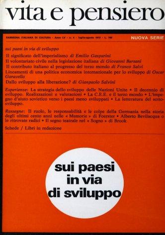 Il contributo italiano al progresso del terzo mondo