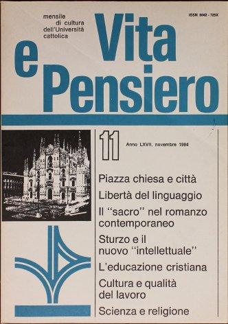 Il «sacro» nel romanzo italiano contemporaneo