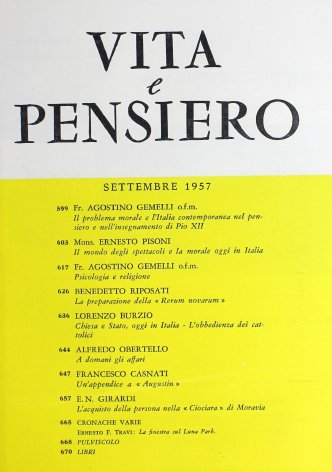 Il mondo degli spettacoli e la morale oggi in Italia