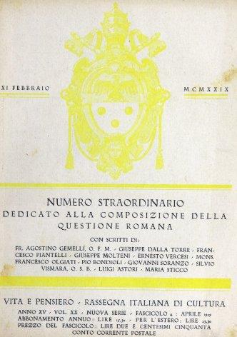 Il padre Luigi Tosti e la conciliazione