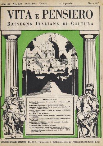 Il pellegrino dell'università cattolica di Roma