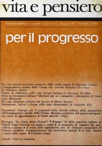 Impegni per il progresso della società italiana nella prospettiva dell'insegnamento sociale della Chiesa