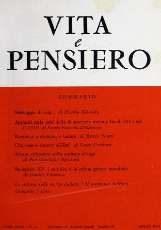 Incidenza delle riviste cattoliche nella cultura italiana