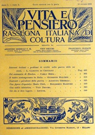 Interessi italiani e problemi di civiltà nella guerra delle nazioni