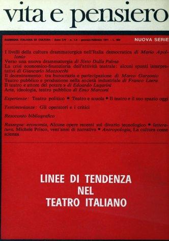 La crisi economico-finanziaria dell'attività teatrale: alcuni spunti interpretativi