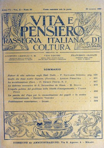 La dottrina economica di S. Bernardino da Siena