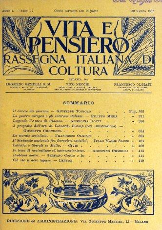 La guerra europea e gli interessi italiani