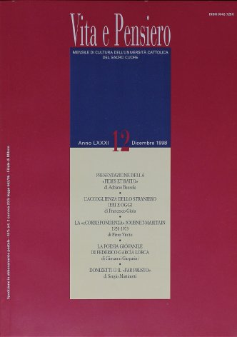 La «corrispondenza» Journet-Maritain: 1920-1973