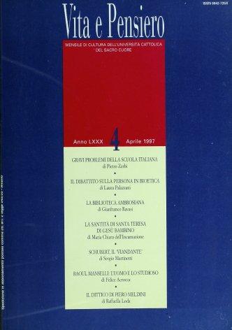La Lezione umana e storiografica di Raoul Manselli