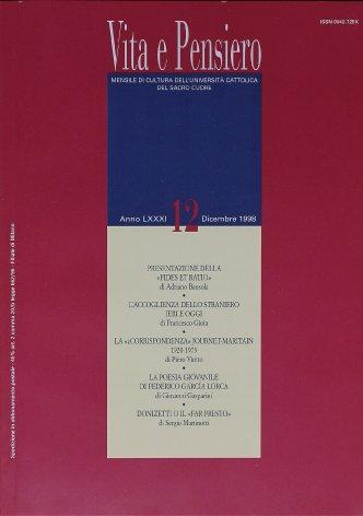 La poesia giovanile di Federico Garcia Lorca. In margine a un centenario