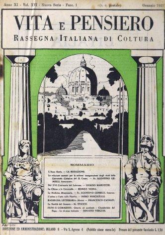 La relazione annuale per la solenne inaugurazione degli studî della Cattolica del S. Cuore
