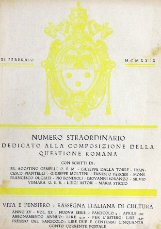 La ripercussione mondiale dei patti del Laterano