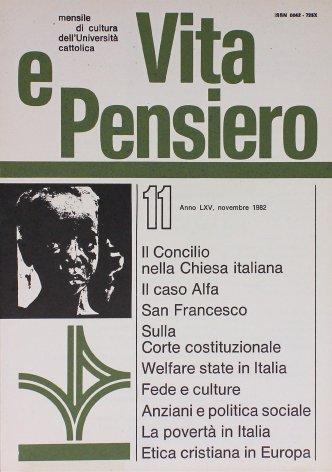L'attuazione del 'welfare state' in Italia