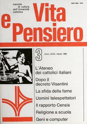 Le prospettive dell'Ateneo dei cattolici italiani