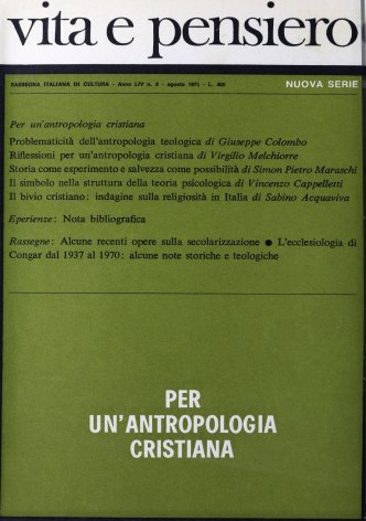 L'ecclesiologia di Congar dal 1937 al 1970: alcune note storiche e teologiche
