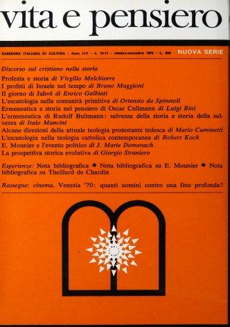 L'ermeneutica di Rudolf Bultmann: salvezza della storia e storia della salvezza