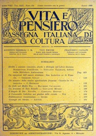 L'Università Cattolica nei giudizi delle riviste