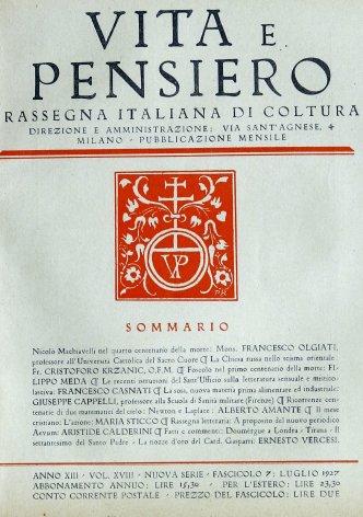 Nicolò Machiavelli nel quarto centenario della morte