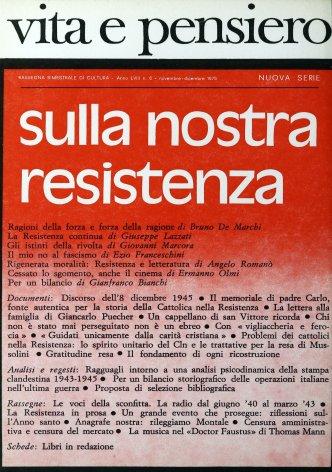 Problemi dei cattolici nella Resistenza: lo spirito unitario del Cln e le trattative per la resa di Mussolini