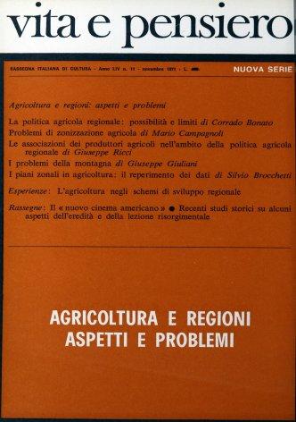 Problemi di zonizzazione agricola