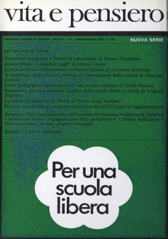 Prospettive per una moderna politica della scuola libera in Italia