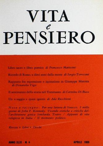 Rapporto fra espressione e ispirazione in Giuseppe Marotta