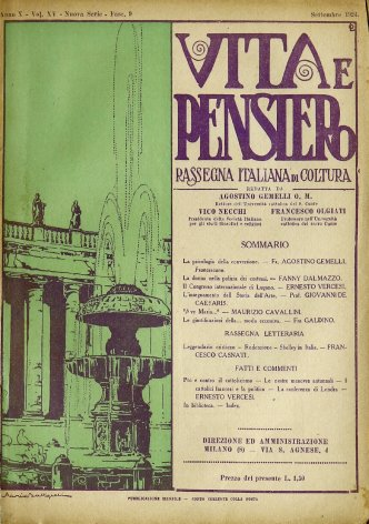 Rassegna letteraria: Leggendario cristiano - Redenzione - Shelley in Italia