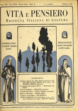 Relazione annuale letta nella solenne inaugurazione degli studi deIla Università Cattolica del S. Cuore
