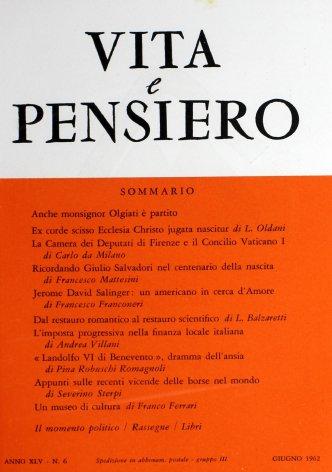 Ricordando Giulio Salvadori nel centenario della nascita