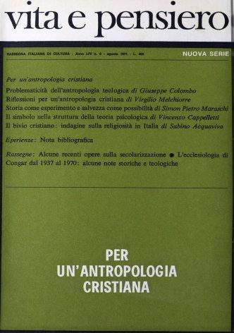 Riflessioni per un'antropologia cristiana