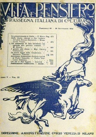 Ruralismo francescano (Lettera aperta al padre Gemelli)