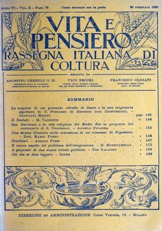 San Gerolamo e la vita religiosa del Medio Evo (a proposito del centenario di S. Gerolamo)