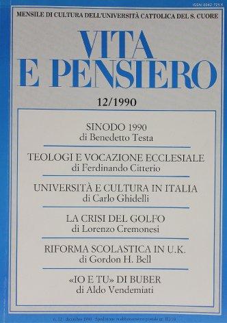 Sinodo 1990: la formazione dei sacerdoti nelle circostanze attuali