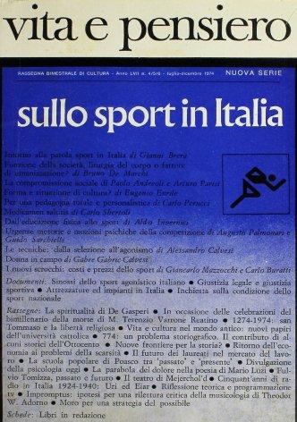 Sinossi dello sport agonistico italiano