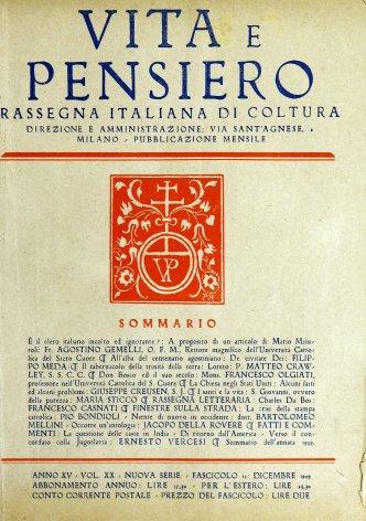 Sommario dell'annata 1929